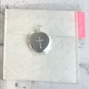 NWT India Hicks Sterling Silver Cross Charm